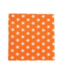 ★ NEU - Stoffserviette - Happy stars, orange
